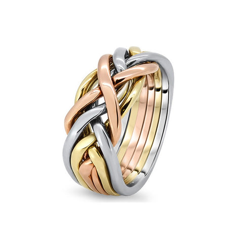 Gold Puzzle Ring 6CW-M