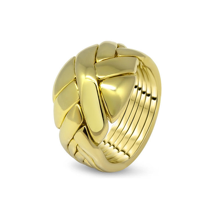 Gold Puzzle Ring 6DO-U