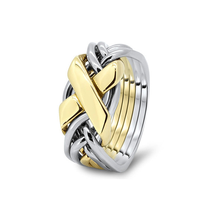 Gold Puzzle Ring 6FX-L