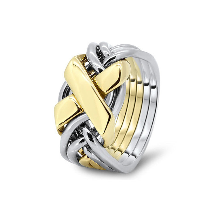 Gold Puzzle Ring 6FX-M