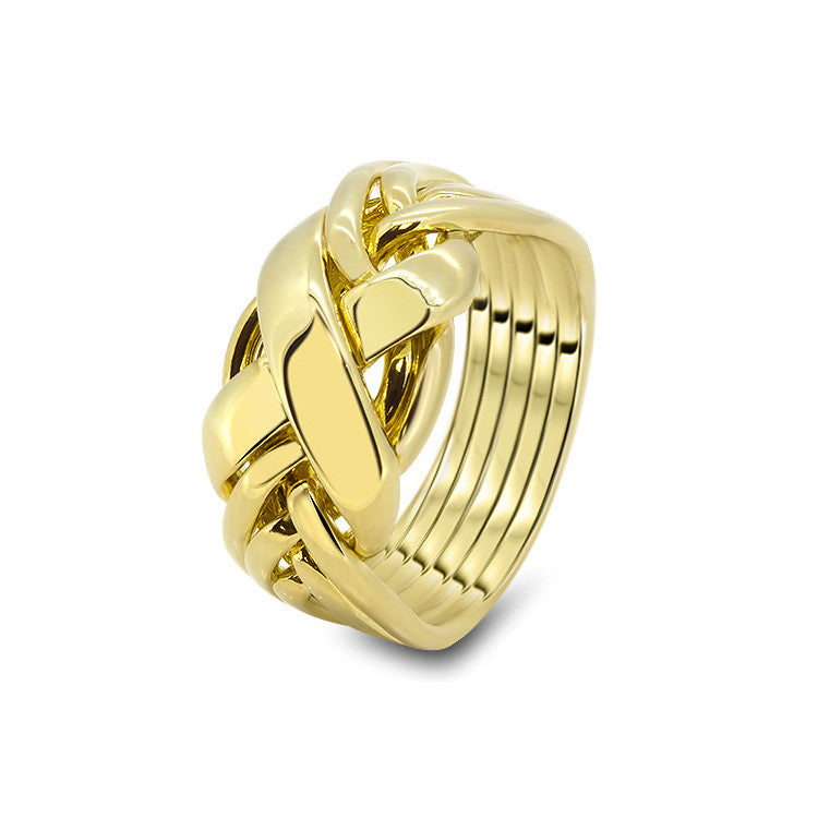 Gold Puzzle Ring 6RX-L