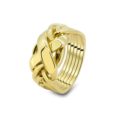 gold puzzle ring 6rx l - Puzzle Wedding Rings