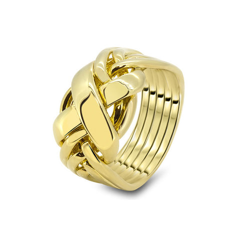 Gold Puzzle Ring 6RX-M