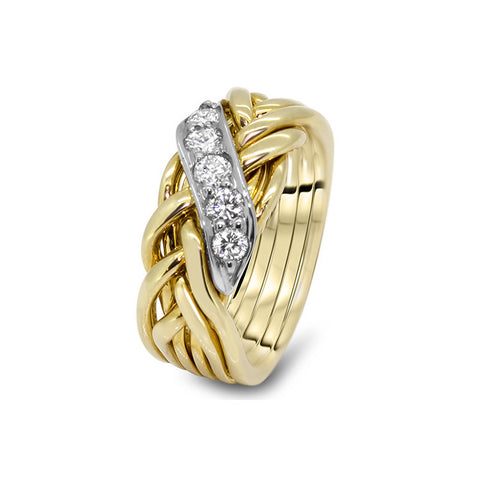 Gold Puzzle Ring 6WRD-LD