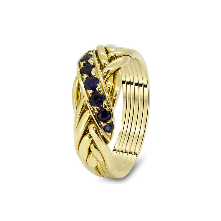 Gold Puzzle Ring 6WRD-LS