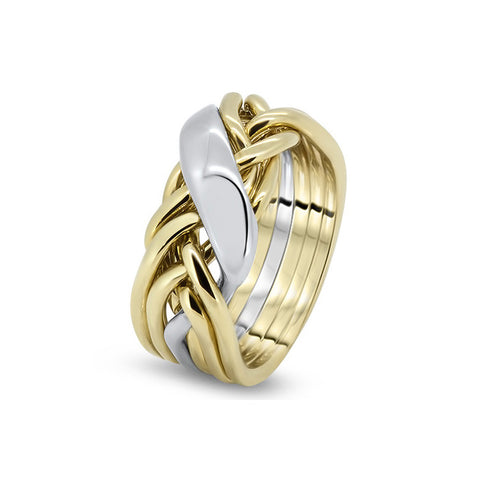gold puzzle ring 6wrd l - Puzzle Wedding Rings