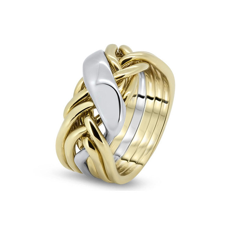 Gold Puzzle Ring 6WRD-M