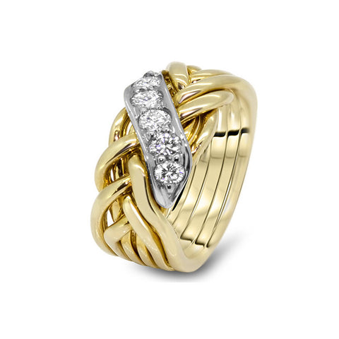 Gold Puzzle Ring 6WRD-MD