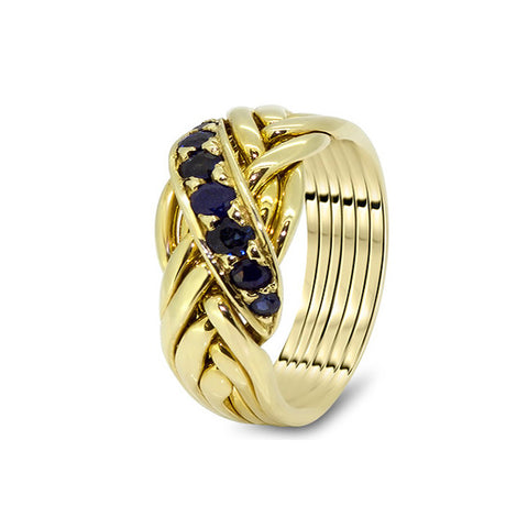 Gold Puzzle Ring 6WRD-MS