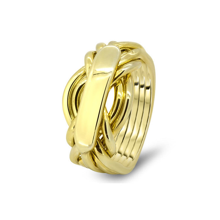 Gold Puzzle Ring 7AH-L