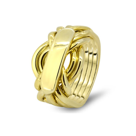 Gold Puzzle Ring 7AH-M