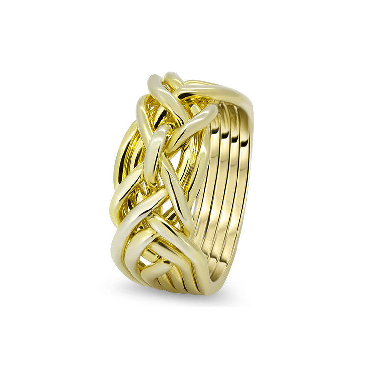 Gold Puzzle Ring 7D-L