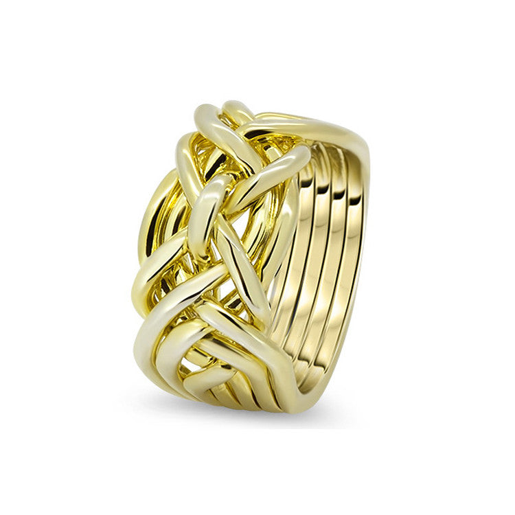 Gold Puzzle Ring 7D-M