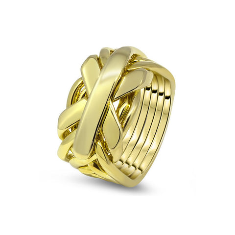 Gold Puzzle Ring 7JG-M