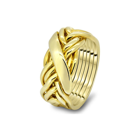 Gold Puzzle Ring 7WRD-L