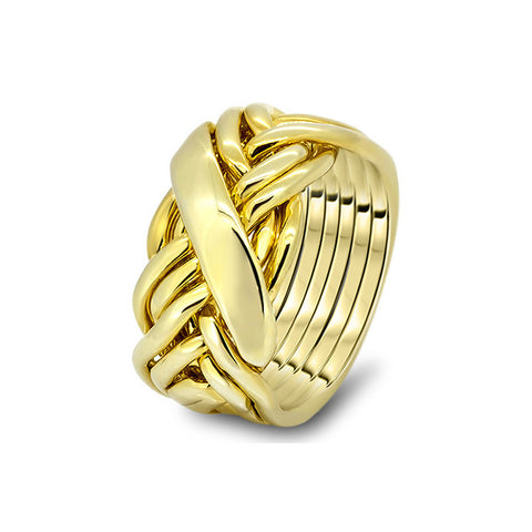 Gold Puzzle Ring 7WRD-M