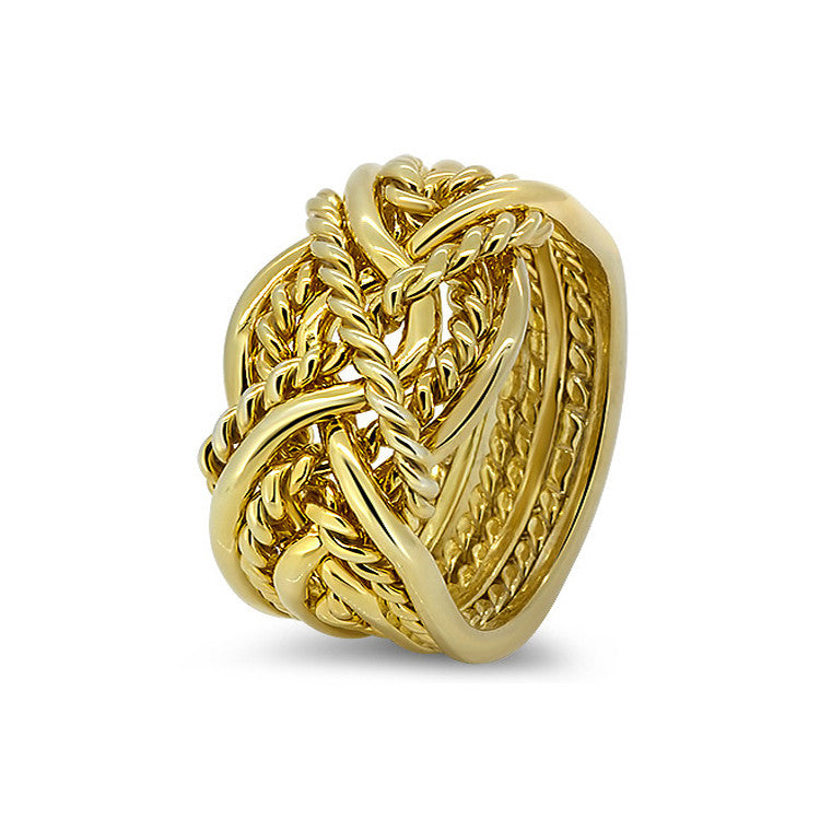 Gold Puzzle Ring 8B4T-M