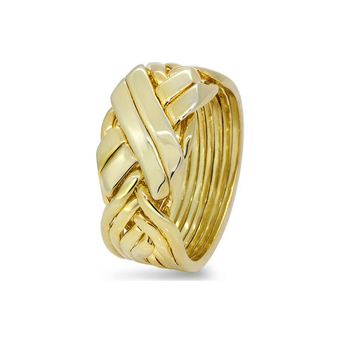 Gold Puzzle Ring 8BFX-M