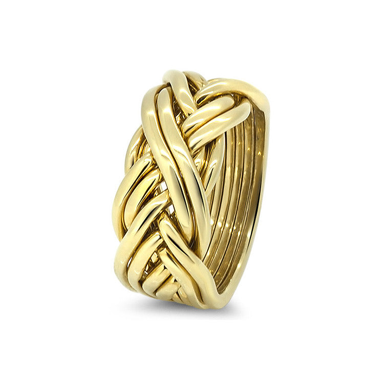 Gold Puzzle Ring 8CW-L