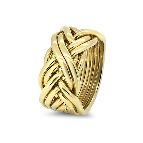 Gold Puzzle Ring 8CW-M