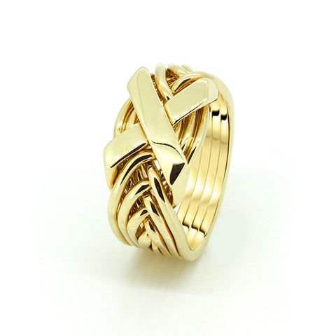 Gold Puzzle Ring 8FX-L