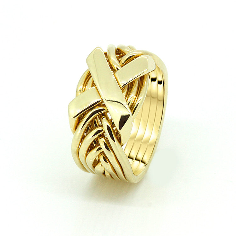 Gold Puzzle Ring 8FX-M