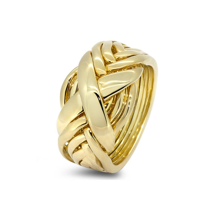 Gold Puzzle Ring 8RX-L