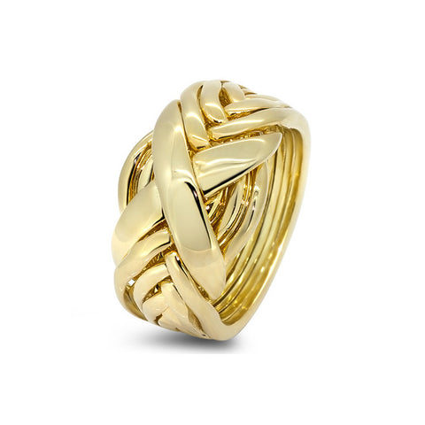 Gold Puzzle Ring 8RX L