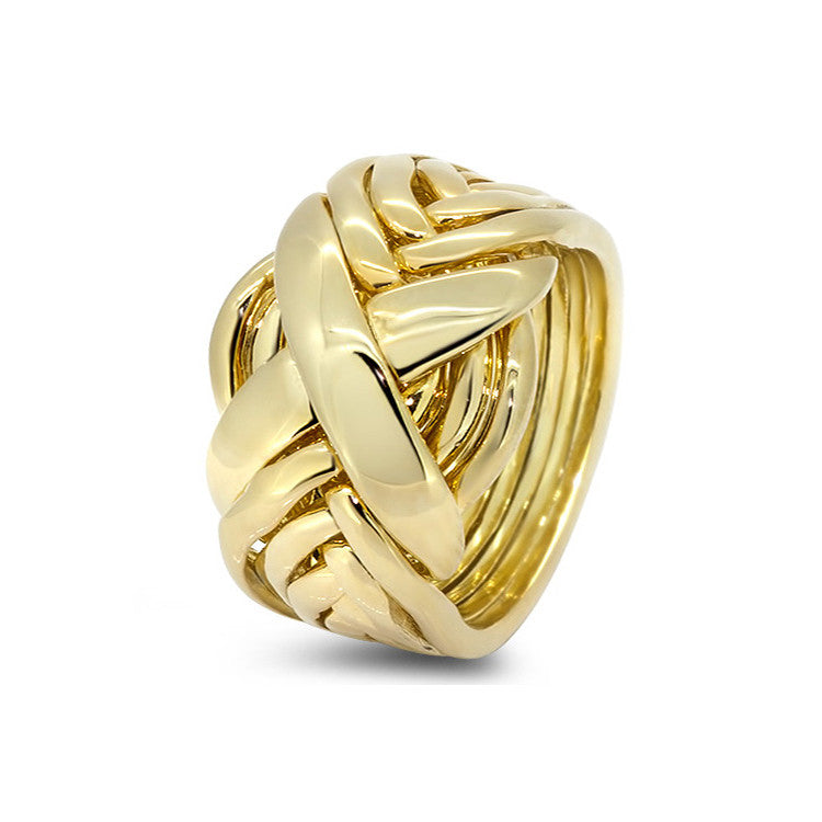 Gold Puzzle Ring 8RX-M