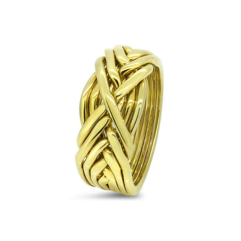 Gold Puzzle Ring 8T-L