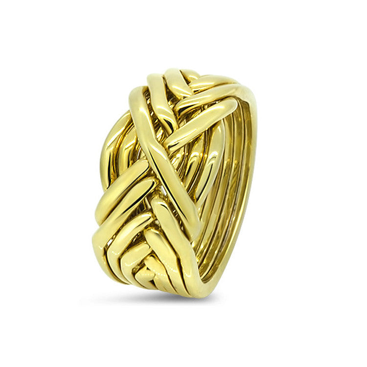 Gold Puzzle Ring 8T-M