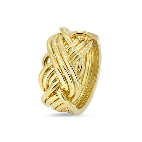 Gold Puzzle Ring 8T3-L