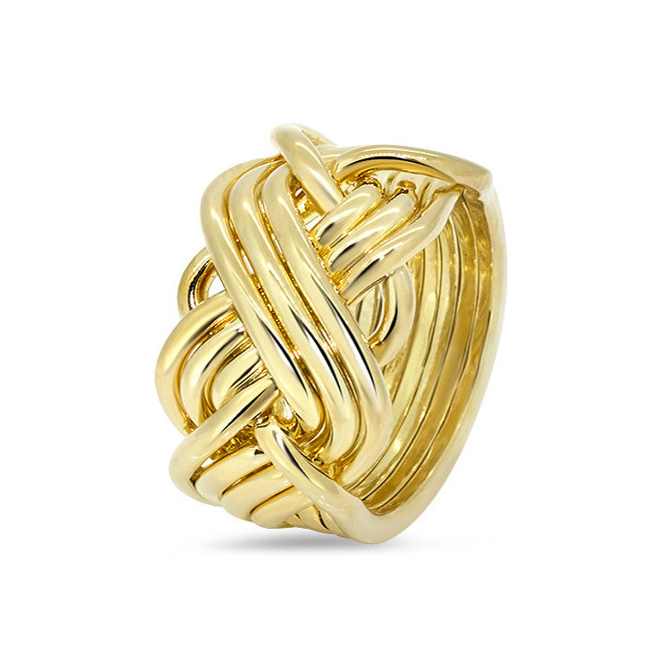 Gold Puzzle Ring 8T3-M