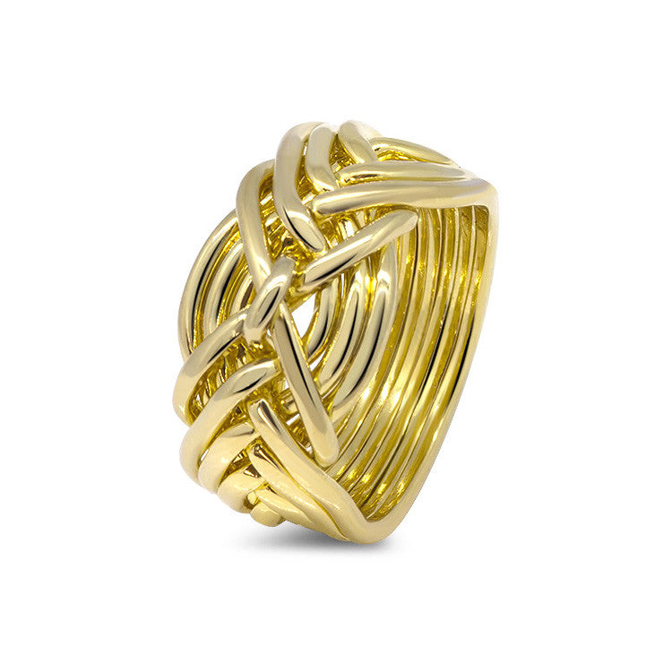 Gold Puzzle Ring 9D-L