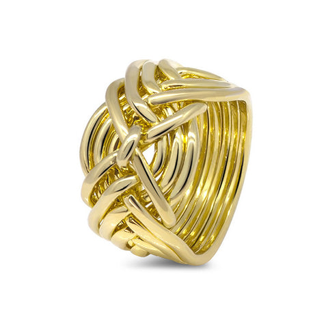 Gold Puzzle Ring 9D-M