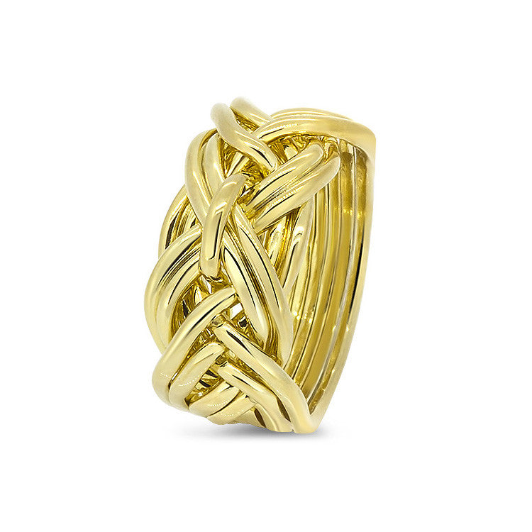 Gold Puzzle Ring 9WD-L