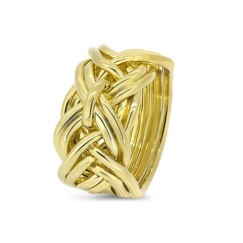 Gold Puzzle Ring 9WD-M