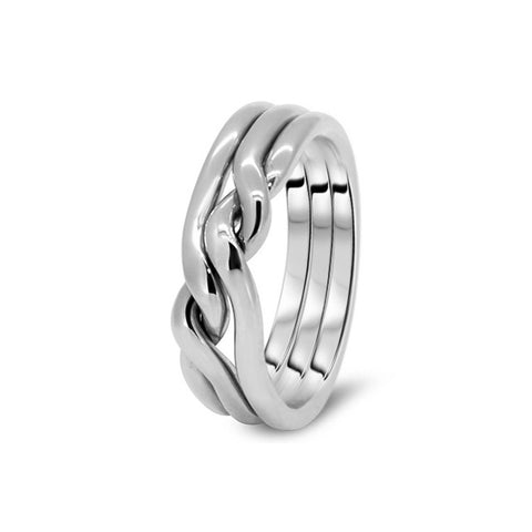 Platinum Puzzle Ring 3CN-M