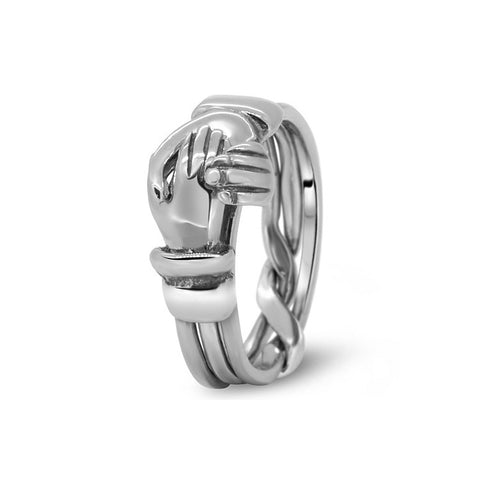 Platinum Puzzle Ring 3CR-L