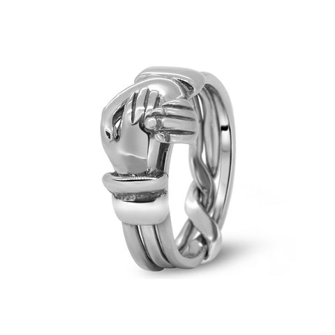 Platinum Puzzle Ring 3CR-M