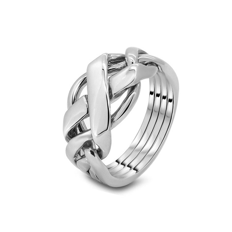 Platinum Puzzle Ring 4FX-M