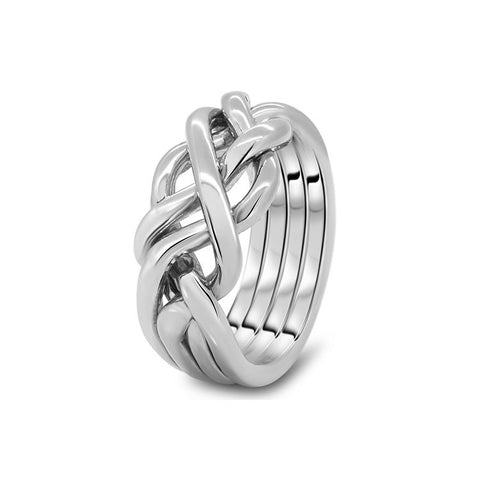 Platinum Puzzle Ring 4HB-M