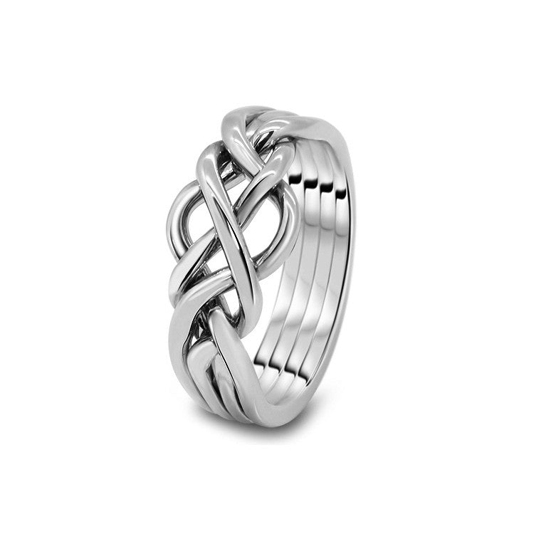 Platinum Puzzle Ring 4O-L