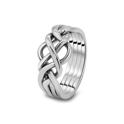 Platinum Puzzle Ring 4O-M