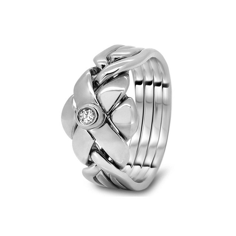 Platinum Puzzle Ring 4RC-MD