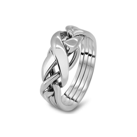 Platinum Puzzle Ring 4RX-L