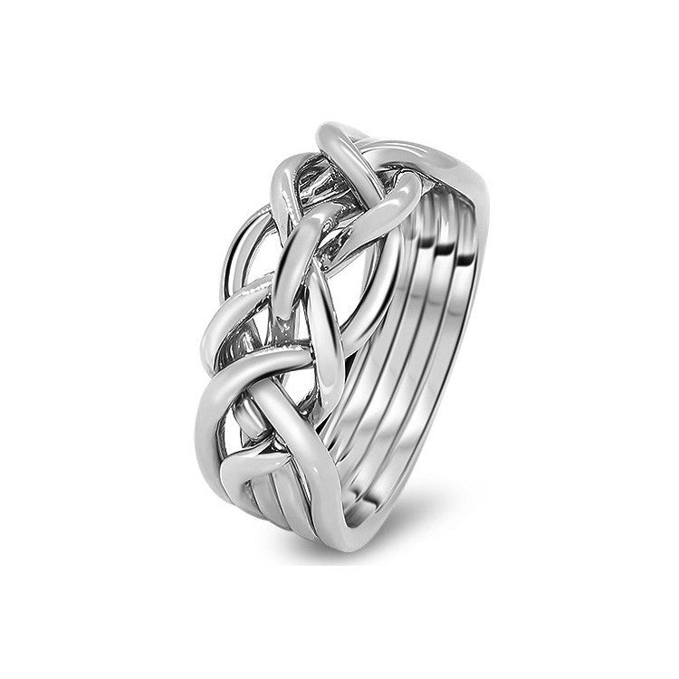 Platinum Puzzle Ring 5D-L