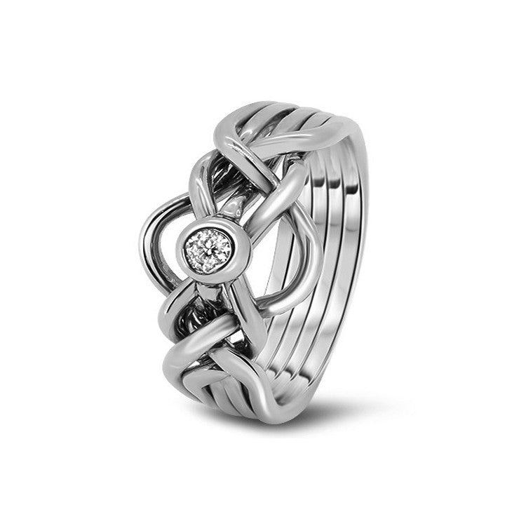 Platinum Puzzle Ring 5D-MD