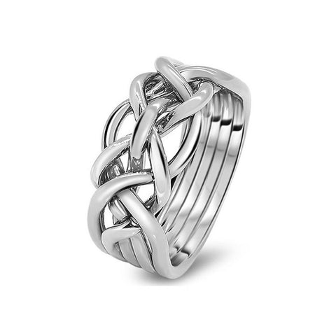 Platinum Puzzle Ring 5D-M