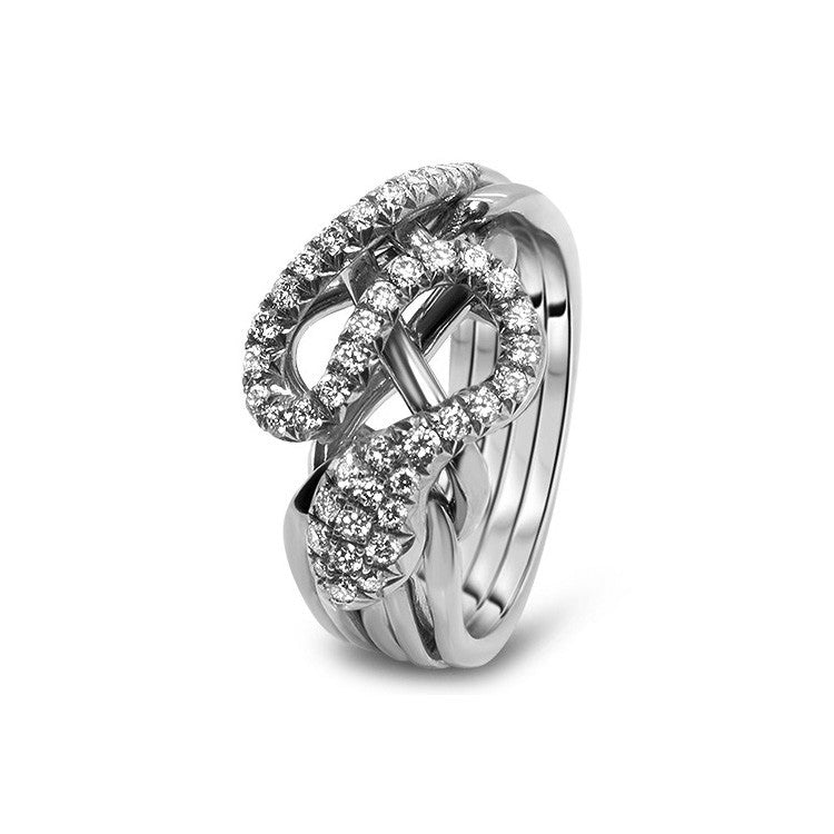 Platinum Puzzle Ring 5RS-LD